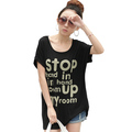 cheap cool fashion t shirt White/Black Women&#39;s Clothing T-Shirts(China (Mainland))