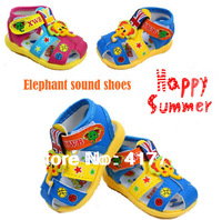 New Hot Summer Baby Sandals  Sound Shoes Baby Girl and Boy Prewalker Little Elephent Sandals