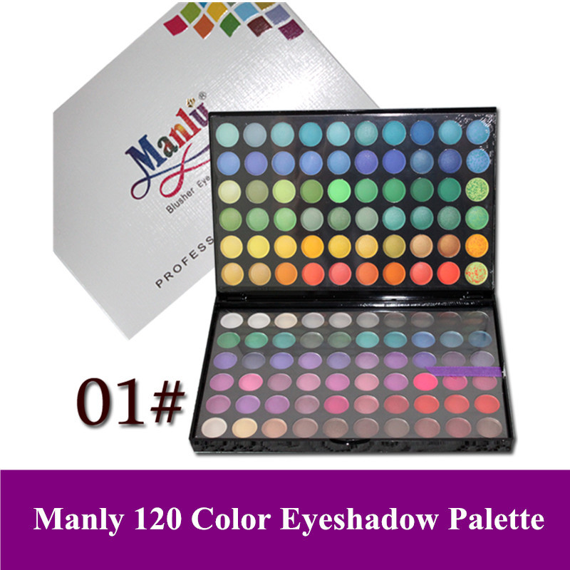 Hot Manly 120 Color Make Up Eyeshadow Palette, Cosmetic 120 Color Eye Shadow, Shimmer & Matte Palette A, Free Shipping(China (Mainland))