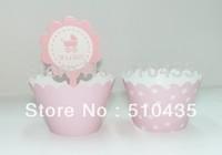 Free shipping ! 2 inch cupcake box pink series.cupcake wrapper .cake cup . cake Surrounding edge