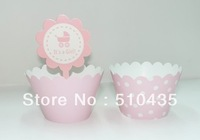 Free shipping ! 2 inch cupcake box pink series.cupcake wrapper .cake cup . cake Surrounding edge