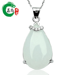 Lai is still genuine natural jade A cargo the Myanmar jade drop pendant fashion style necklace jade pendants(China (Mainland))