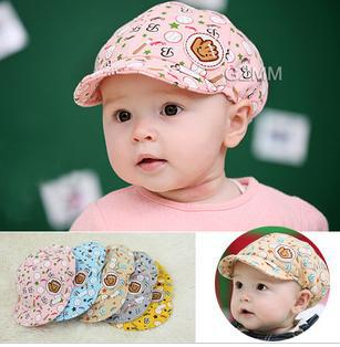 Free shipping 2013 New spring and autumn cute kids hat,baby baseball cap,infant lovely cricket-cap for 3-24month