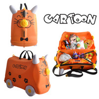 free shipping ,new style multi-functional, children animal suitcases, luggage, toy box buggies, drop shipping