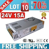 Free shipping 24V 15A 360W Regulated Switching Power Supply S-360W-24V