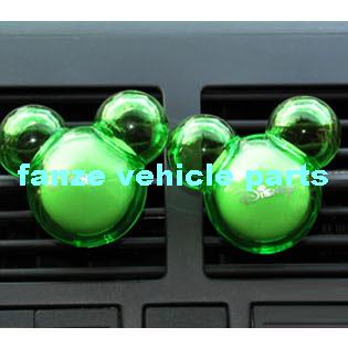 free shipping 2 pcs one pair Mickey Mouse car Air Freshener car Perfume Diffuser Multicolor(China (Mainland))
