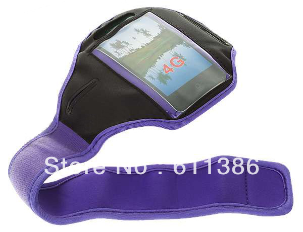 Purple Sport Gym Armband Case Cover For SONY XPERIA NEO L MT25i Sola MT27i J ST26i R800X Play L S36h SP M35h T TX S P SL LT26ii(China (Mainland))