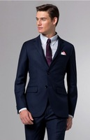 Design Men Suit Custom Made Suit  Slim Fit Men Suit Dress Blue Suit Men Suit Elegant Suit Foctory Hot  2013 Groom suit  MS0242