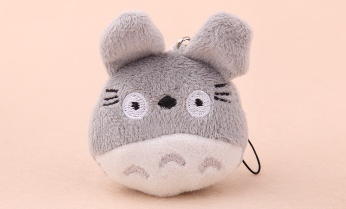 MINIMUM Order. 15$, TOY, Plush Stuffed TOY, Mini 4CM Japan Totoro DOLL , Mobile Cell Phone Strap Pendant Charm Strap Lanyard(China (Mainland))