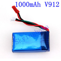 WLtoys V912 Battery, 7.4V 1000mAh, V-912 rc helicopter spare parts, wholesale