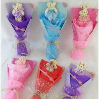 2013 New Gift Free shipping Single cartoon bouquet wedding gift birthday gift bountyless female marriage