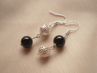 Irregular earrings beads drop earring lucky