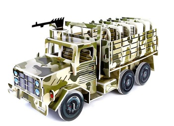 Free shipping 3D Puzzle Educational Toy/ Military Vehicle Children's Creative DIY Handmade Paper Model Jigsaw 349