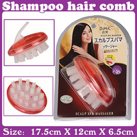 3 pcs/Lot_Shampoo brush your hair shampoo hair comb easily Free Shipping