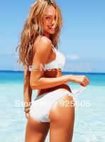 Free shipping Sexy women Halter Bra with lycra patchwork  Padded boho dolly bikini Swimwear swimsuit multi-colors S M L T78
