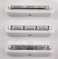 Free Shipping Self adhesive cordless linear led cabinet lamp touch sensor cabinet strip light battery powered up light bar