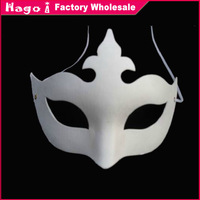 Free Shipping (12pcs/lot) Crown Mask Unpainted White Paper Party Masks for DIY Hand-painted
