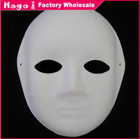 Free Shipping (12pcs/lot) Women Style Mask Unpainted White Paper Party Masks for DIY Hand-painted