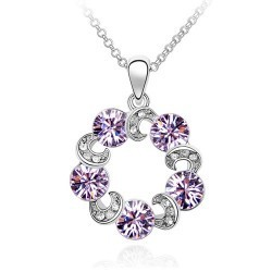 Free Shipping Eternal necklace female short crystal accessories b15 star accessories factory wholesale price(China (Mainland))