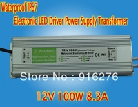 Waterproof IP67 DC 12V 100W 8.3A Electronic LED Driver Power Supply Adapter Transformer AC 170V-250V  Outdoor  High Quality