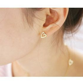 Minimum Order $15 Hot-selling eh27 accessories popular brief fashion love queen peach heart female stud earring(Hong Kong)