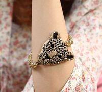 Sz16 fashion accessories popular exquisite tassel bracelet luxury leopard head (can mix order)