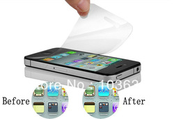 Clear Screen Protector For Nokia 603 Screen with Cloth 50 pcs/lot Free shipping high definition wholesale(China (Mainland))