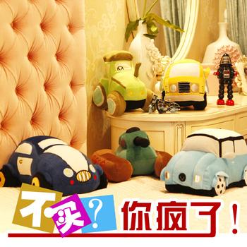 Toy car plush pillow cute doll bag