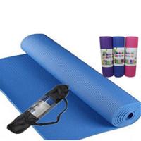 6mm 8mm yoga mat fitness mat sports yoga mat slip-resistant solid color print pad