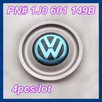 4 pcs/lot Wheel Center Caps for VW Volkswagen Cars, 1J0 601 149B Car Emblems Free Shipping