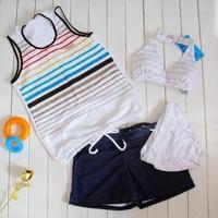 Split female swimwear split bikini piece set swimwear