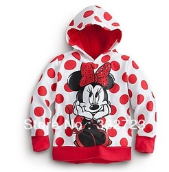 2013 new style ,5pcs/lot Bow Minnie baby girls cartoon clothing long sleeve hoodies children's sweatshirts free shipping(China (Mainland))