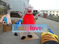 peppa pig mascot costume party costume dog dropship available