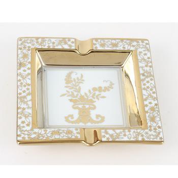 Square decorative pattern ceramic ashtray smoke dish advertising gift ktv