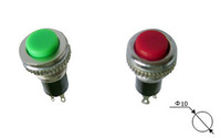 Free shipping , 100pcs Button switch DS-316 by-pass switch reset switch red / green high-quality