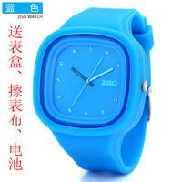 Zgo quartz watch jelly table fashion scrub resin rhinestone vintage table fashion watches 6032