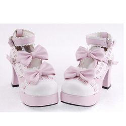 2013 hot-selling spring and autumn single shoes women's high-heeled shoes lolita shoes laciness bow sweet princess shoes(China (Mainland))