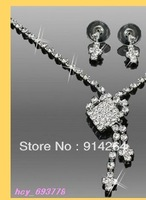 Wholelsale 6Sets Noble Bridal Rhinestone Necklaces Sets     free shipping