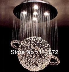Free shipping most popular style ball design Dia 500MM H800mm contemporary crystal chandelier for living room(China (Mainland))