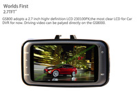 New Arrival Free Shipping  GS8000 GPS Car DVR 1080P Full HD Motion Detection Night Vision Wide Angle HDMI  Camera 2.7  LCD
