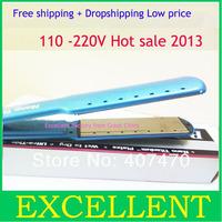 wholesale flat irons Pro Nano Titanium 1 1/2 straightener iron wet to dry prancha nano titanium without retail box