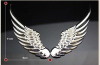 11X9CM 3D Angel's Wing Car Tail sticker