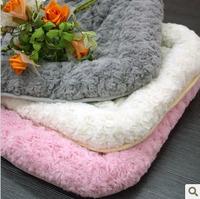 Free shipping, Wholesale Kitten Soft Fleece pet mat bed house nest, white/grey/pink, size S/L, 10pcs/lot