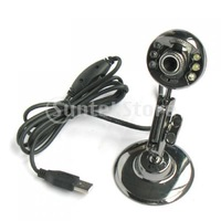 Free Shipping USB 3.0 Mega Pixels 6 LED Driverless Webcam Camera for PC / Laptop