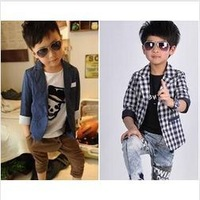 children's dots plaid blazers white navy girls boys polka dot checker blazer free shipping