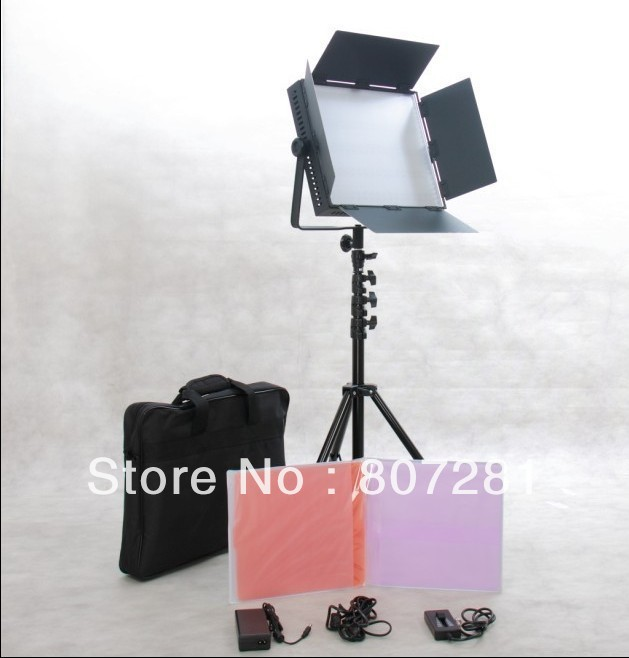 Free Bag Bi-color 1200 LED Video Studio Light Camera Daylight lighting(China (Mainland))