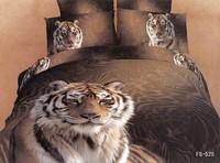 New Beautiful 4PC 100% Cotton Comforter Duvet Doona Cover Sets FULL / QUEEN / KING SIZE bedding set 4pcs nice tiger lion leopard