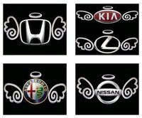 Funny Angel Wings 3D Car Stickers Car 3D Emblems Alloy Badge