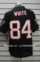 Free Shipping! Atlanta #84 White 2012 Men's Authentic Elite Football Jersey,Embroidery logos,size M-3XL,Mix Order