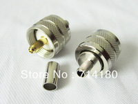 5xUHF (PL259) male crimp connector for LMR195 RG58 cable cheap fast shipping new